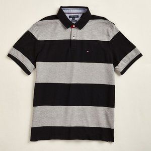 TOMMY HILFIGER Striped Charles Polo, NWT, L